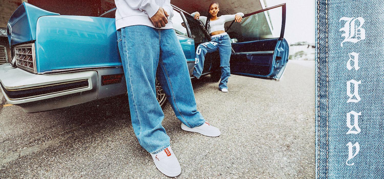 Baggy Jeans für Damen, Herren und Jungen
