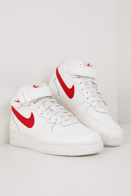 Nike - Air force 1 Sneaker mid - White + Red