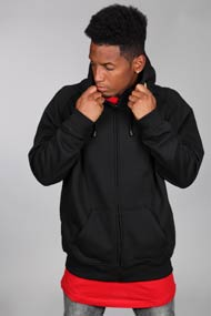 Urban Classics - Sweat zippé à capuchon - Black