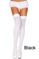 Music Legs - Overknee Socken - Black