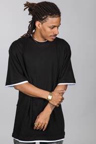 Urban Classics - Long T-Shirt - Black + White