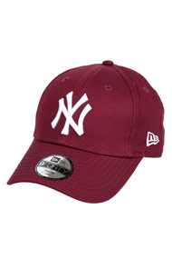 New Era - Casquette 9forty / strapback - Bordeaux + White