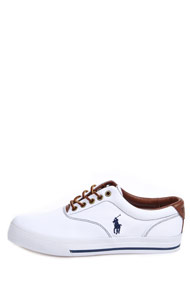 Polo Ralph Lauren - Sneaker low - White + Brown + Blue