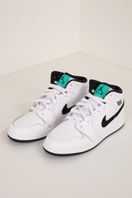 Jordan - Air Jordan 1 Sneaker mid - White + Black + Turquoise