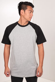 Urban Classics - T-Shirt - Heather Grey + Black