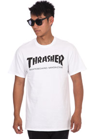 Thrasher - T-Shirt - White + Black