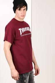 Thrasher - T-Shirt - Bordeaux + White