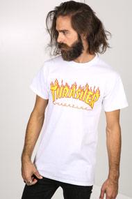 Thrasher - T-Shirt - White + Yellow + Red