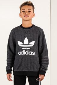 Adidas Originals - Sweatshirt - Heather Black + White