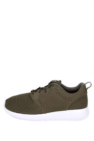 Nike - Roshe One chaussures de course - Olive Green + White