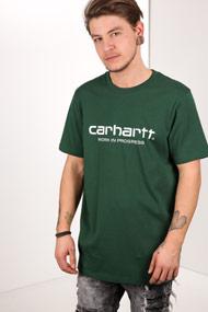 Carhartt WIP - T-Shirt - Dark Green + White