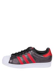 adidas Originals - Superstar sneakers basses - Anthracite + Red