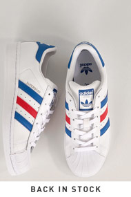 adidas Originals - Superstar sneakers basses - White + Blue + Red