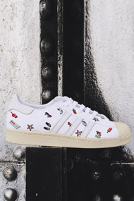 adidas Originals - Superstar Sneaker low - White + Multicolor