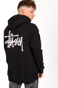 Stussy - Sweatshirt à capuchon - Black + Rose