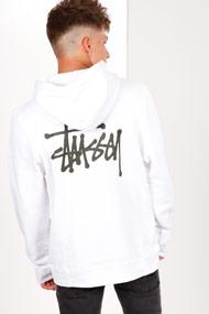 Stussy - Sweatshirt à capuchon - White + Black