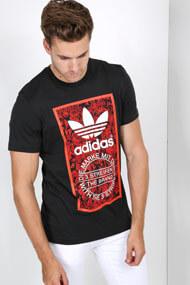 adidas Originals - T-Shirt - Black + Red