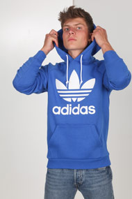 adidas Originals - Kapuzensweatshirt - Blue + White