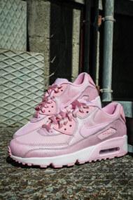 Nike - Air Max 90 sneakers basses - Rose + White