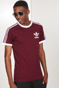 adidas Originals - T-Shirt - Wine + White
