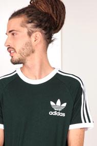 adidas Originals - T-Shirt - Dark Green + White