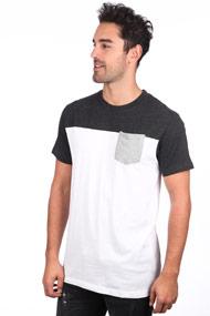 Urban Classics - T-Shirt - White + Anthracite