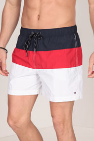 Tommy Hilfiger - Short de bain - White + Red + Navy Blue