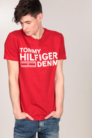 Tommy Hilfiger - T-Shirt - Red + Offwhite