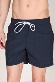 Tommy Hilfiger - Badeshorts - Navy Blue + White + Red