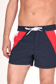 Tommy Hilfiger - Short de bain - Navy Blue + Red + White