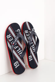 Tommy Hilfiger - Flip Flops - Navy Blue + White + Red
