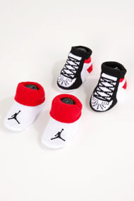Jordan - Doppelpack Baby Socken - Red + White + Black