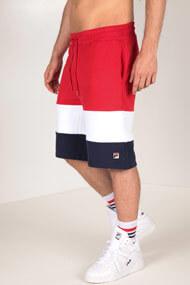 Fila - Trainingsshorts - Red + White + Navy Blue