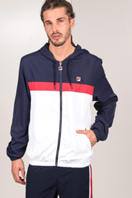 Fila - Windjacke - White + Navy Blue + Red