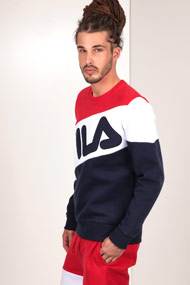 Fila - Sweatshirt - Navy Blue + Red + White