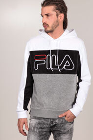 Fila - Samt Sweatshirt - Light Grey + White + Black