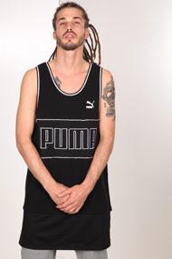Puma - Débardeur long - Black + White