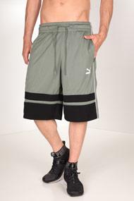 Puma - Short en mesh - Olive Green + Black + White