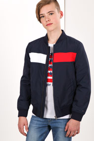 Tommy Hilfiger - Veste bomber - Navy Blue + Red + White