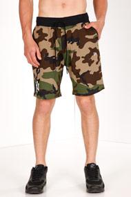 New Era - Sweatshorts - Camouflage + Black