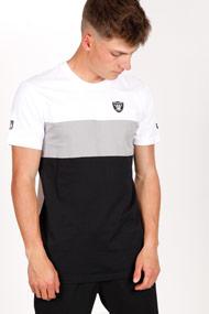 New Era - T-Shirt - White + Black + Grey