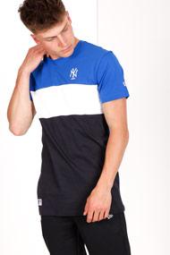 New Era - T-Shirt - Blue + Navy Blue + White