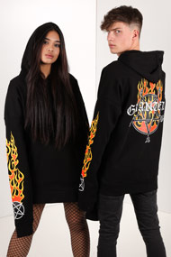 Granted - Oversize Sweatshirt - Black + Orange