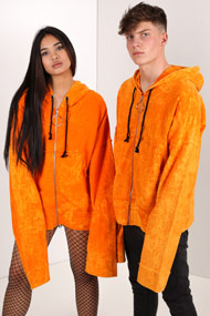 Granted - Oversize Sweatjacke - Orange