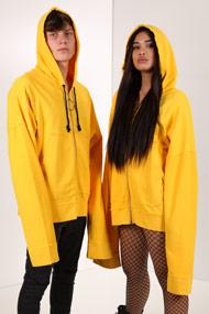Granted - Oversize Sweatjacke - Yellow