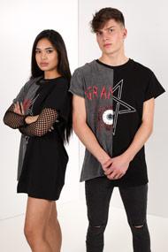 Granted - Oversize T-Shirt - Black + Heather Grey