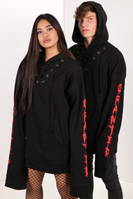 Granted - Oversize Sweatshirt - Black + Red
