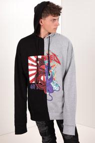 Granted - Oversize Sweatshirt - Black + Heather Light Grey