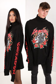 Granted - Langarmshirt - Black + Red + White