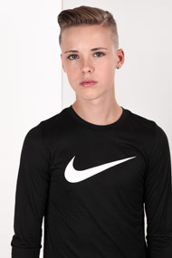 Nike - Shirt manches longues - Black + White